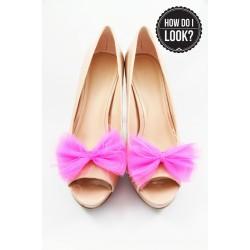 Klipsy do butów Ballerina's Bow. Fuchsia.