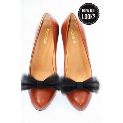 Klipsy do butów Ballerina's Bow. Czarne.