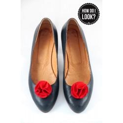 Klipsy do butów Felt Flower. Czerwone.