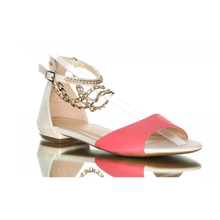 BLESS różowe Klasyczne Sandały Rose Gold | Sandały damskie w