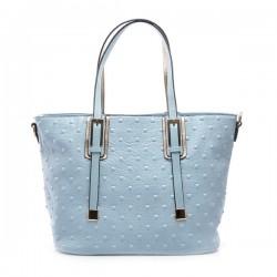 50acbb1b6a6d2 Niebieska torebka damska z kwadratowymi ćwiekami. Elegancka i pojemna.