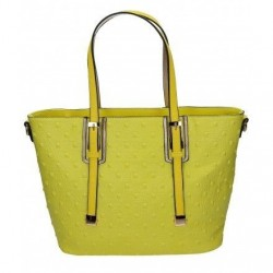 Żółta torebka damska z kwadratowymi ćwiekami. Elegancka i pojemna.