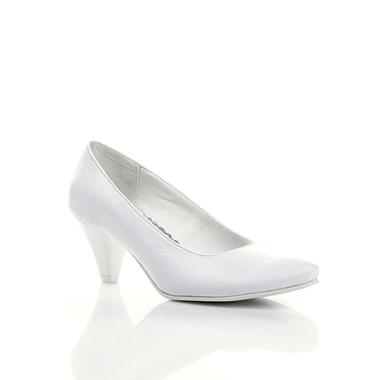 ebfcb25d Buty ślubne. Białe szpilki o klasycznym kształcie. Produkt polski.  Elegancja. W zasadzie opis tych ślubnych butów mógłby się zakończyć na tym  jednym... ...