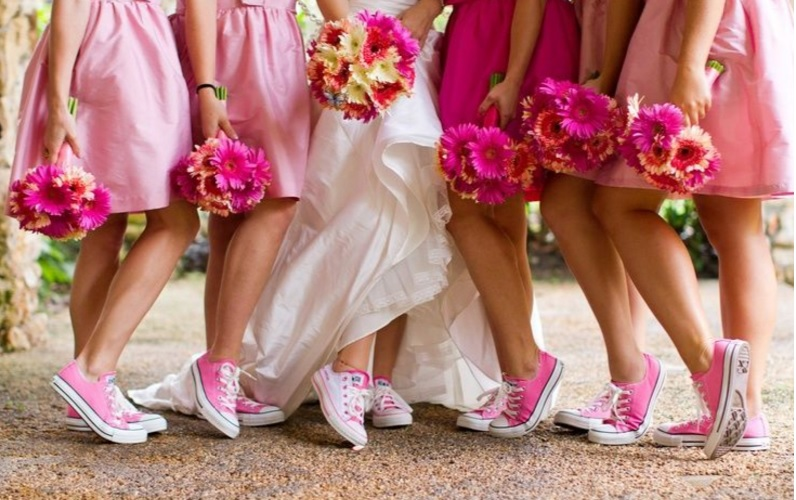 Zdjęcie różowe tenisówki